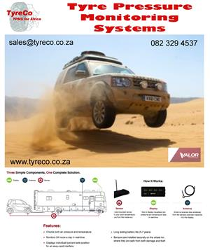 Tyre Pressure Monitoring systems