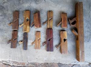 Antique Wood Block Planed