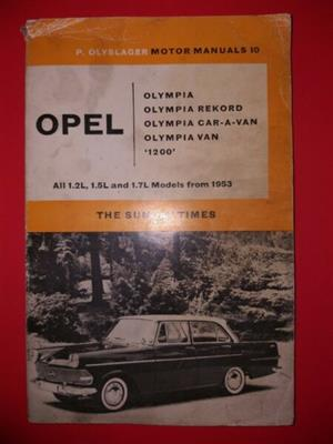 Opel Olympia And 1200 - P Olyslager - Motor Manuals 10 - Manual.