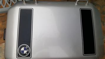 Two aluminium genuine BMW side panniers