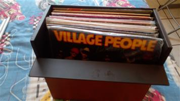 vinyl records, singles and long play