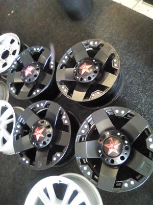 17 inch  Rockstar set of x4 rims   6x139 pcd  to fit on most  bakkies and SUV R5000.