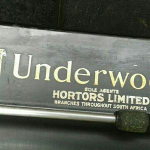 Underwood 1934 6/20 long carriage typewriter