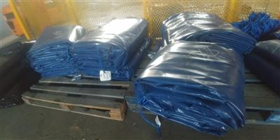 9m x 9m heavy duty truck covers/tarpaulins and cargo nets for super-link and tri_axle