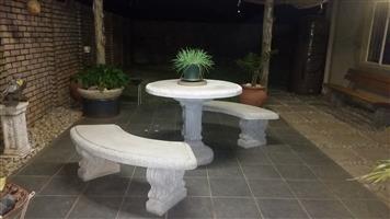 8pc Garden Concrete set 4seater