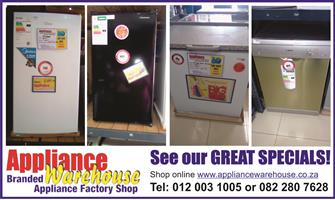 Appliance Warehouse - Fridges/Freezers/Dishwashers/Washing Machines/Stoves - Shop Online for your Convenience!