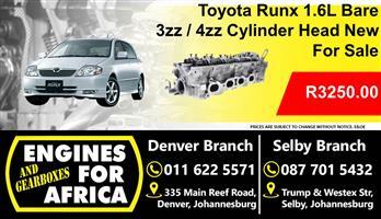 Toyota Runx 1.6L Bare 3zz / 4zz Cylinder Head New For Sale