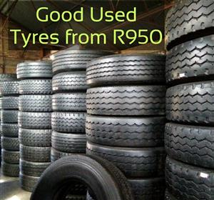 315 & 12R 2nd hand truck tyres