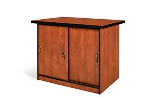 Sliding door Credenza with 1 adjustable shelf.