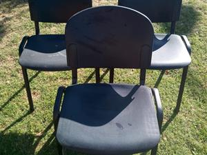 5 black chairs