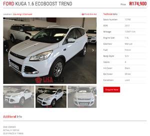 2013 Ford Kuga KUGA 1.5 ECOBOOST TREND