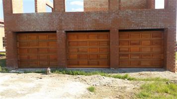 Single Sectional Wooden Garage Doors