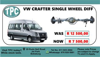 VW Crafter Single Wheel Diff - For Sale at TPC