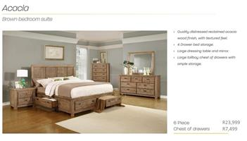 PERILLI Acacia Brown Bedroom Suite