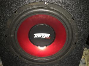 12 inch targa sub and 2000watt monoblock amp