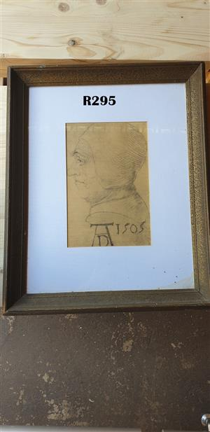 Antique Framed Scetch (440x550)