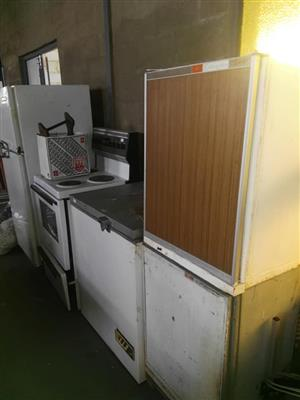 Various freezers and stove