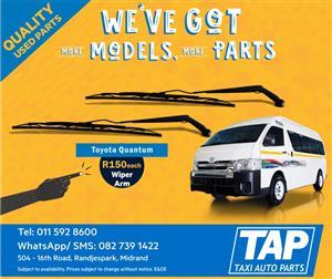 Toyota Quantum WIPER ARM - Taxi Auto Parts quality used spares - TAP