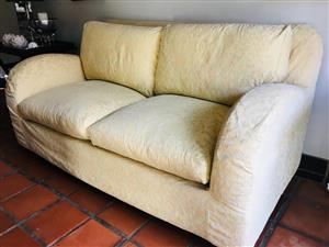 2 X 2 SEATER COUCHES + OTTOMAN