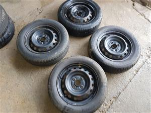 Toyota Yaris rims and tyres for sale