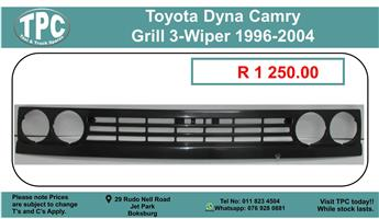 Toyota Dyna Camry Grill 3-Wiper 1996-2004 For Sale.