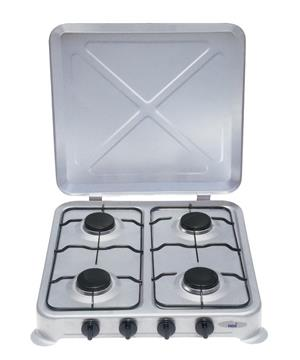 GAS 4 PLATE STOVE WITH LID
