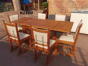 6 Seater Oak Table  with Chairs