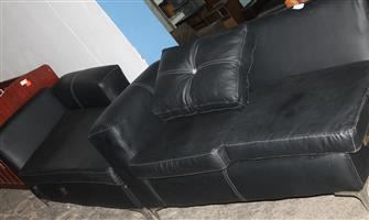 S034184A Black L-shaped couches #Rosettenvillepawnshop