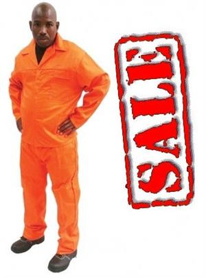 Orange Conti Suit Overalls two Piece Top and Pants