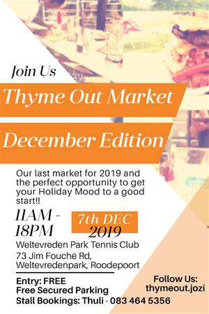 Thyme Out Market - December edition