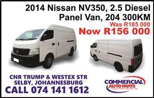 2014 Nissan NV350 panel van wide body 2.5dCi