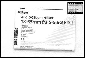User Manual - Nikon AF-S 18-55mm f/3.5-5.6 G ED II