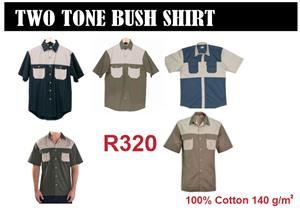 TWO TONE BUSH SHIRTS