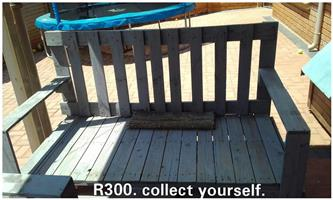 Wooden pallet garden bench for sale