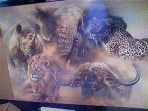 Big five puzzle for sale