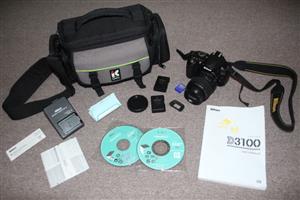 Ninkon D3100 SLR camera with Nikon 18-55mm lens