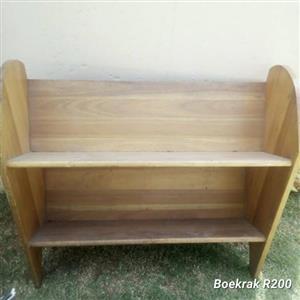 Wooden 2 tier bookshelf