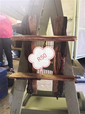 Wooden easel type 2 tier shelf for sale