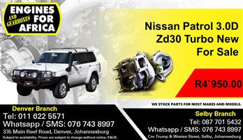 Nissan Patrol 3.0D Zd30 Turbo Charger New For Sale