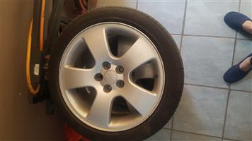 Audi OEM wheels with tyres