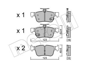Ford Kuga 2 ( 2013- ) , Ford Mondeo 5 ( 2014- ) Rear Brake Pads Available At Voxwagen, Lenasia.