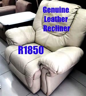 Genuine leather recliner
