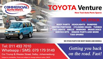 Toyota Venture Parts and Spares For Sale.