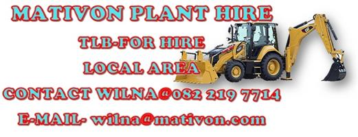 MPH - Mativon Plant Hire, TLB For Hire