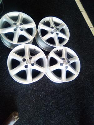 15 inch Toyota rims with 4x100 pcd for only R3000.