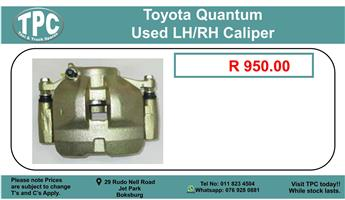 Toyota Quantum Used LH/RH Caliper For Sale.