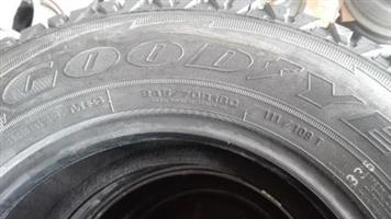 New 245/70/R16 GoodYear Wrangler AT/SA Tyres only R5200 {set of 4 tyres}.