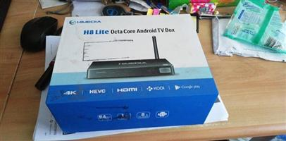 "H8 lite android box and 40"" Samsung tv"