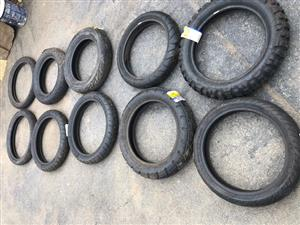 Various Bike Tyres Michelin