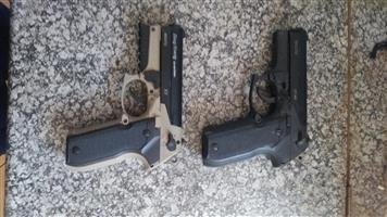 2x pt80 air pistols